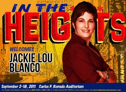 Jackielou Blanco in In The Heights Manila via Atlantis Prod's FB page.