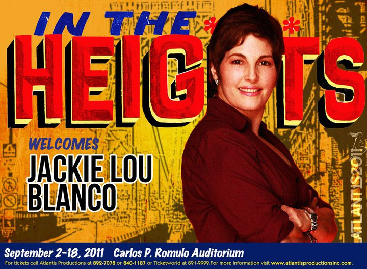 Jackielou Blanco in In The Heights Manila via Atlantis Prod's FB page.
