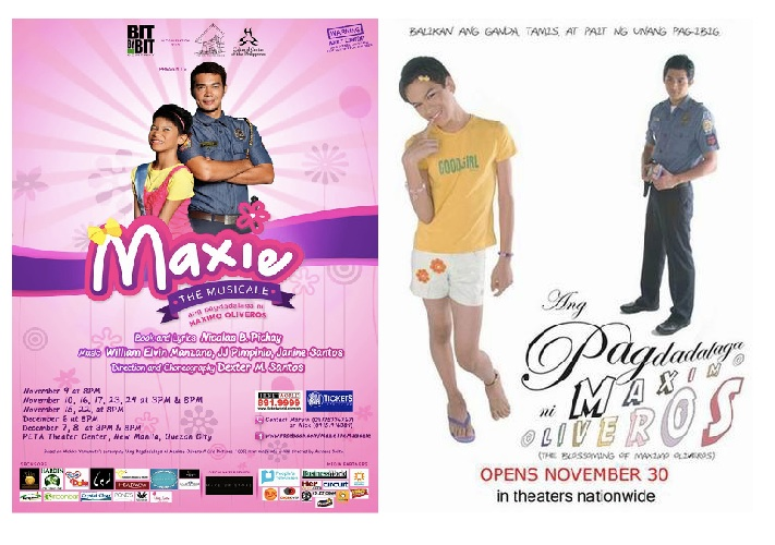 the posters for Maxie The Musical and Ang Pagdadalaga ni Maximo Oliveros already speaks of its stark difference.