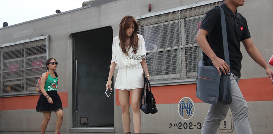 Ginny taking the PNR. photo via Star Cinema website.